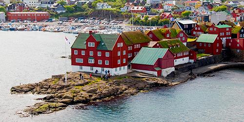 old city of Thorshaven, Denmark, Faroe Islands, Thorshaven
